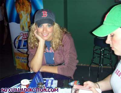 fenway park boston red sox bosox hot blonde world series champions 2004 2007