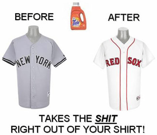 baseball laundry red sox clean yankees dirty