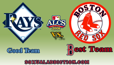 red sox, tampa bay rays, alcs championship, world series 2008